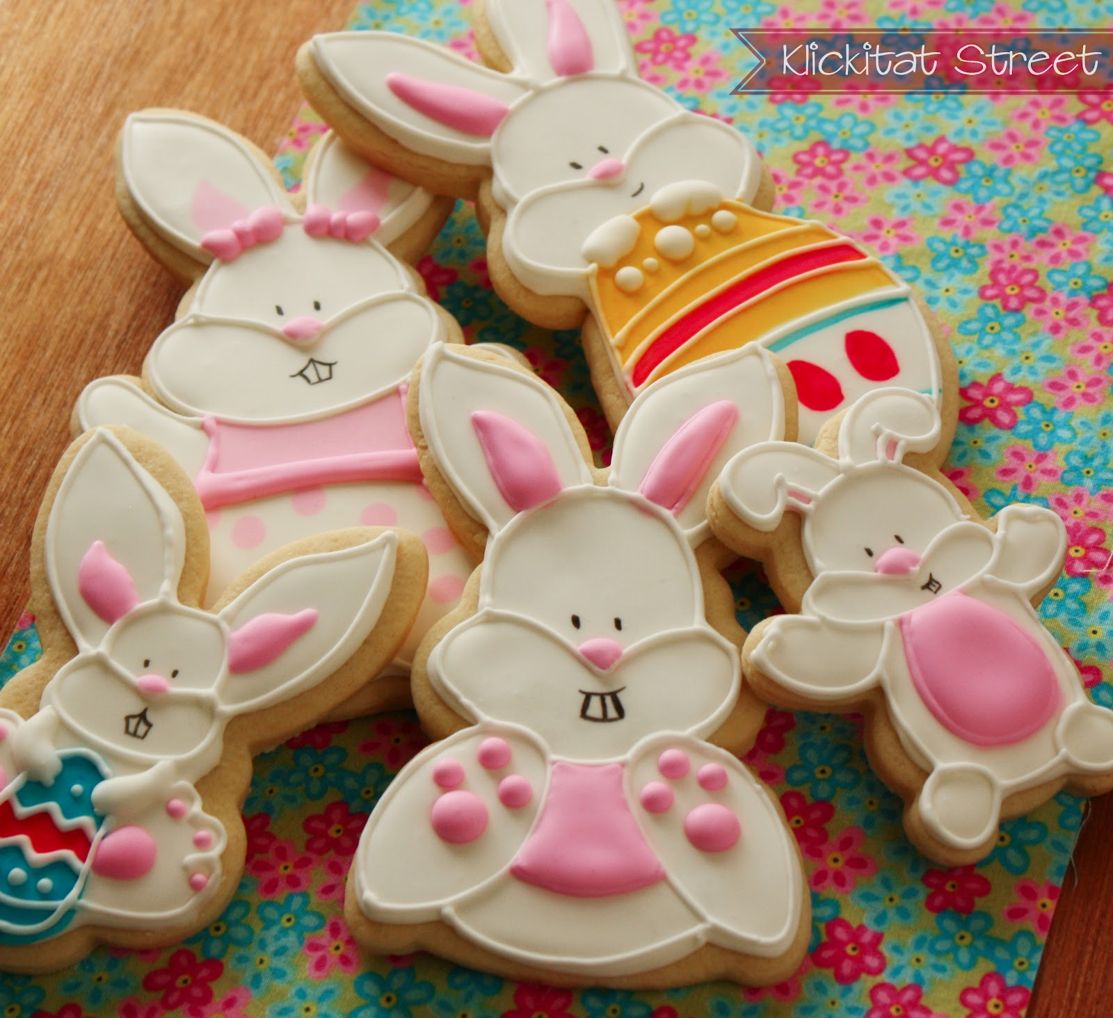 assorted Easter bunny rabbit  cookies
