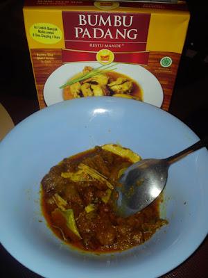 Daging Sapi dan Bumbu Gulai Cincang Restumande