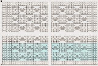 Схемы для салфеток крючком квадратные