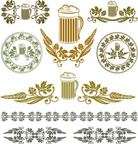 ornamentos mundo cerveza clipart