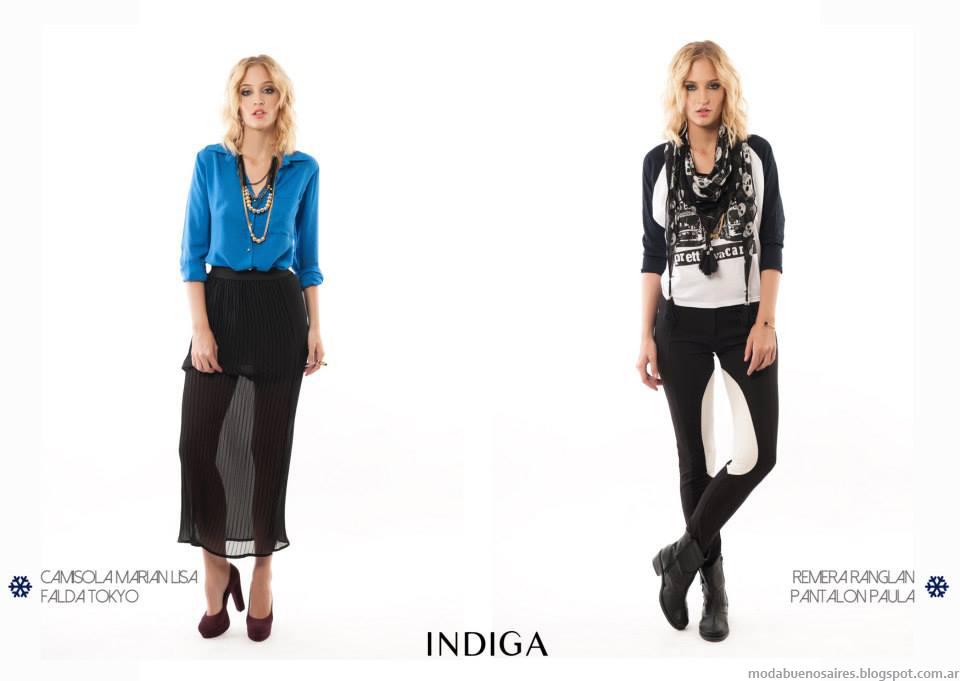 Moda otoño invierno 2014 Indiga colección de ropa de mujer.