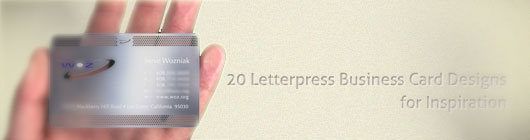 20 Letterpress Business Card Designs for Inspiration