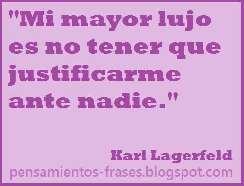 frases de Karl Lagerfeld