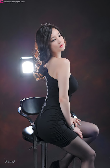 3 Im Ji Hye in Black-very cute asian girl-girlcute4u.blogspot.com