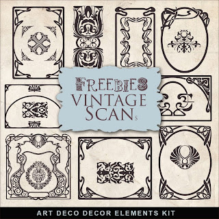 Freebies art deco design elements kit far far hill free for Deco 5 elements