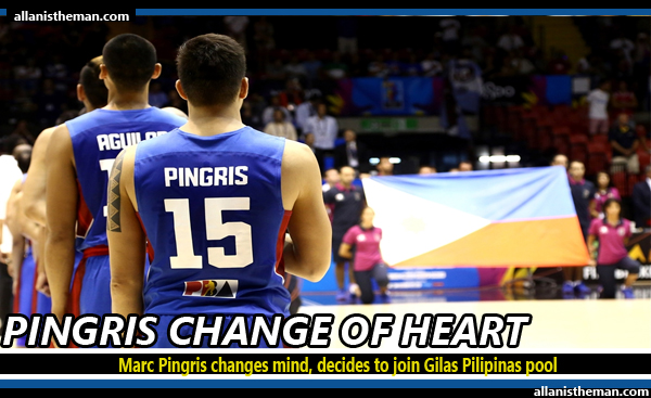 Marc Pingris changes mind, decides to join Gilas Pilipinas pool