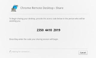 Share code remote desktop using chrome