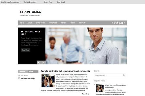LepontoMag Free Blogger Template