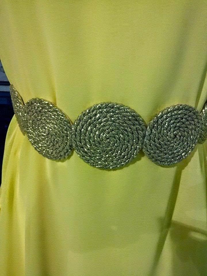 cinturones de cordon de seda.