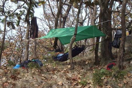 Hamaca de Quercus V2.0 con cinta de nailon. Para dormir al aire libre
