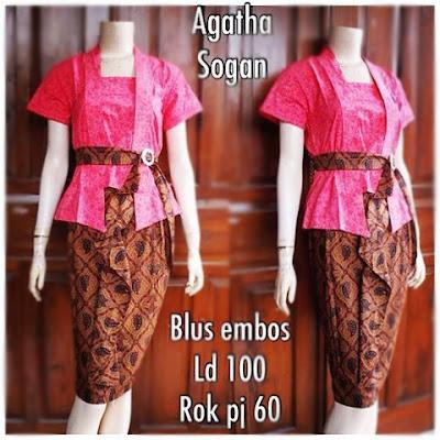 Kebaya Batik Sogan Agatha Db-5304