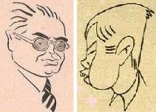 Caricaturas de Vilardebó y Pomar