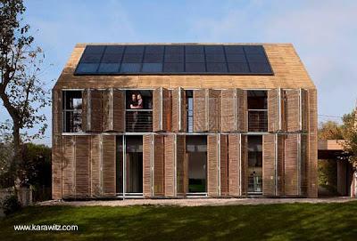 Casa de bambú de diseño moderno europeo