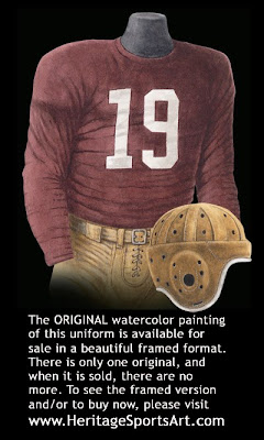 Washington Redskins 1942 uniform