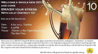 Smash Your Stress - District 10, StarVista, Singapore