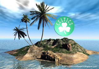 Boston Celtics Fans Wallpapers Celtics Front Logo in 3D Island background