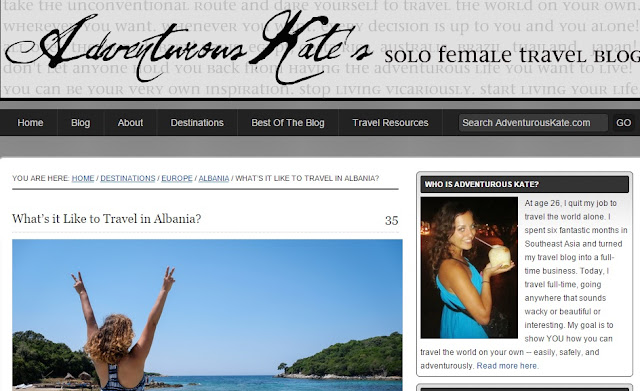 """Adventurous Kate"": ""Albania, the country which fits my dreams"""