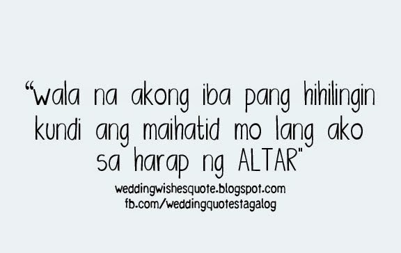 Wish Quotes   Wedding Wishes Quotes Tagalog Version Wedding Wish Tagalog Quote