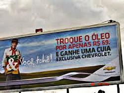 Propaganda regionalizada!!!