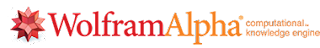 The Wolfram Alpha logo with the saying computational knowledge engine