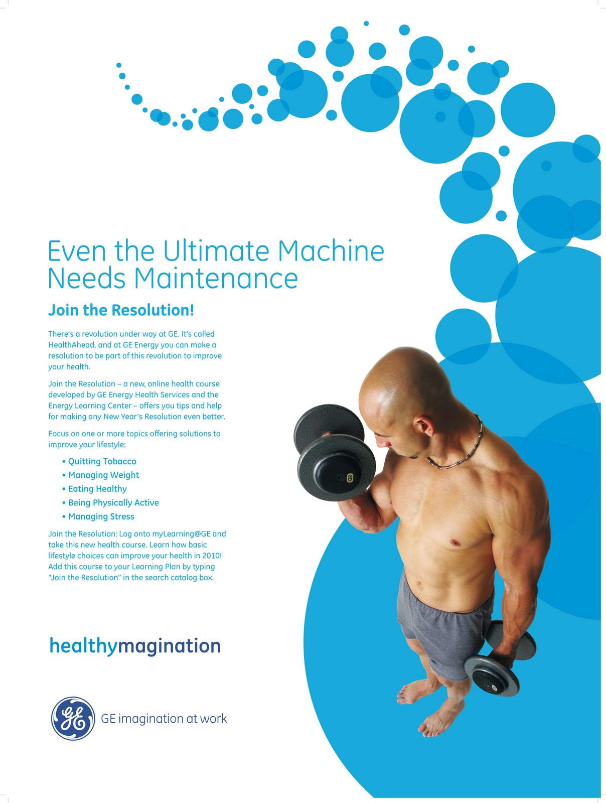 Gregor Healthcare Portfolio: GE Energy Employee Health Program Poster