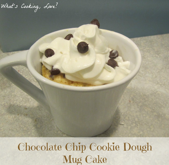 Chocolate Chip Cookie Dough Mug Cake - Whats Cooking Love?