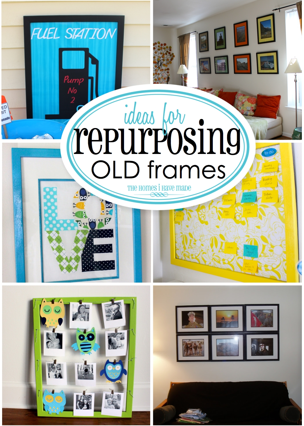 Repurposing ideas for picture frames just b cause for Creative ideas for old picture frames