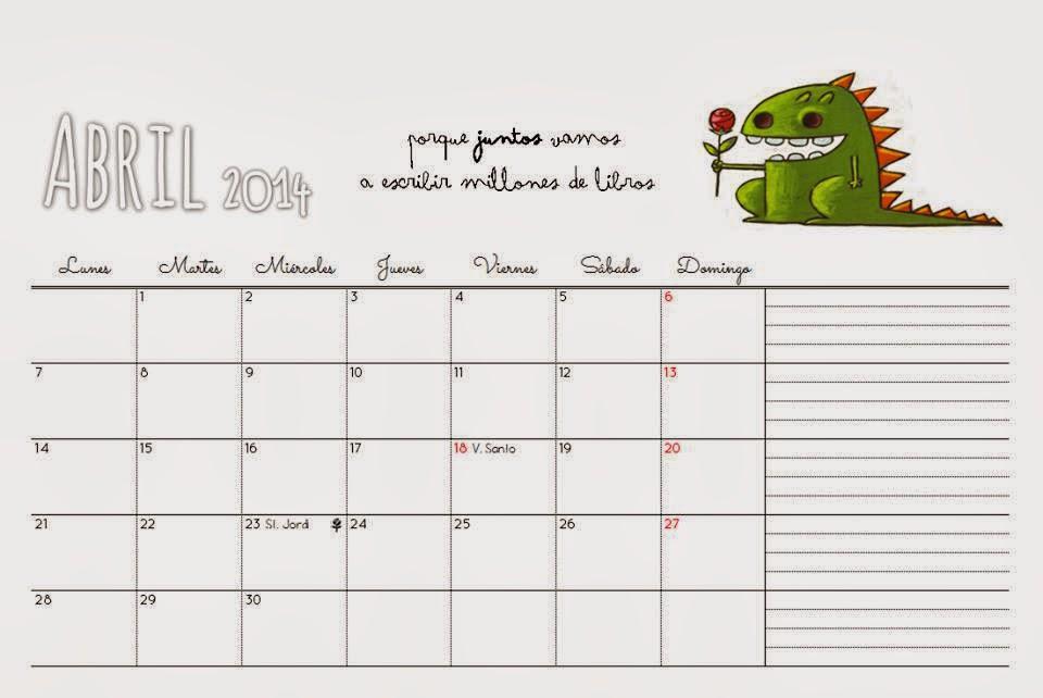 calendario Abril ocho