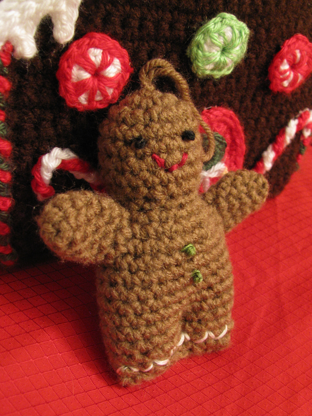 April Sprinkles: Gingerbread Man Lion Brand Pattern