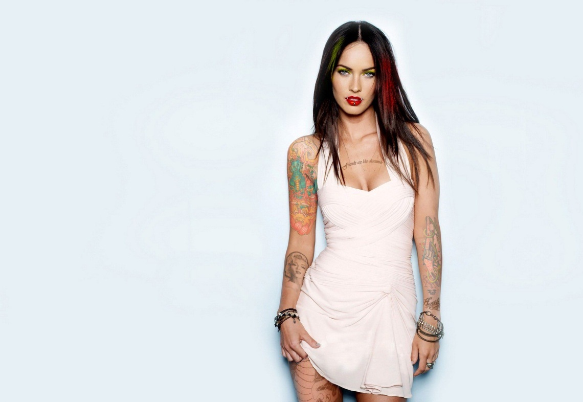 Megan Fox Tattoo, Megan Fox Tattoos, Meagan Fox Tattoos,