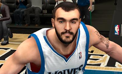 NBA 2K14 Nikola Pekovic Cyberface Patch
