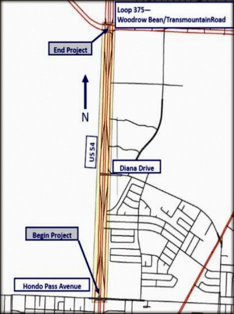 El Paso Development News April - Us 54 el paso map