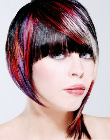 Voguish Colorful Hair Style Idea 2014