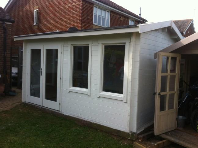 Berwick Log Cabin Installation Tadworth Surrey