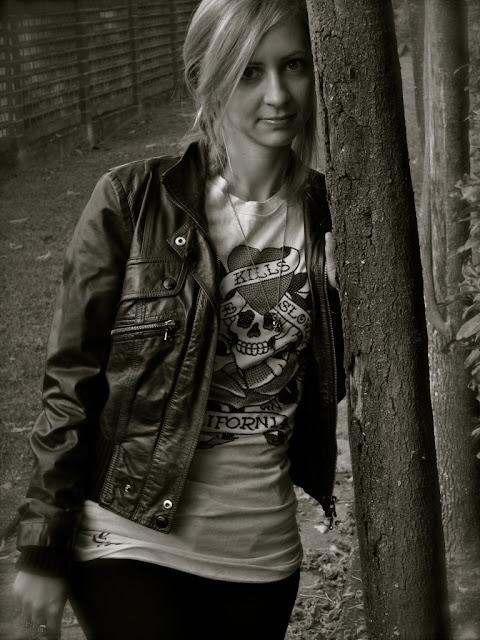patrizia pepe giacca di pelle jacket leather edhardy t-shirt pura lopez wedges
