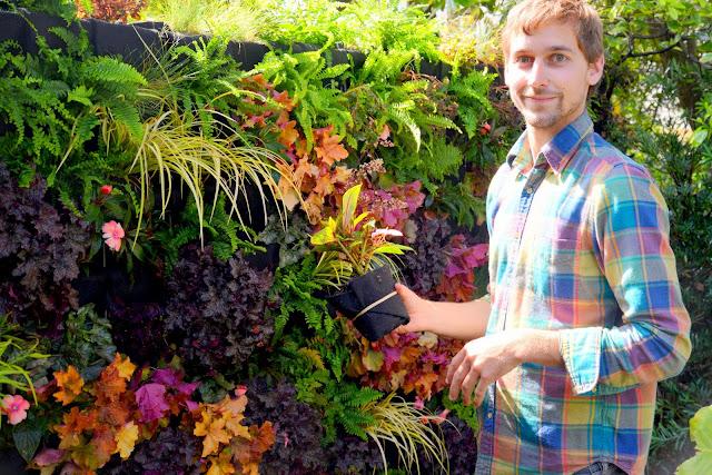 Designer Brandon Pruett uses Florafelt Vertical Garden Systems - PlantsOnWalls.com
