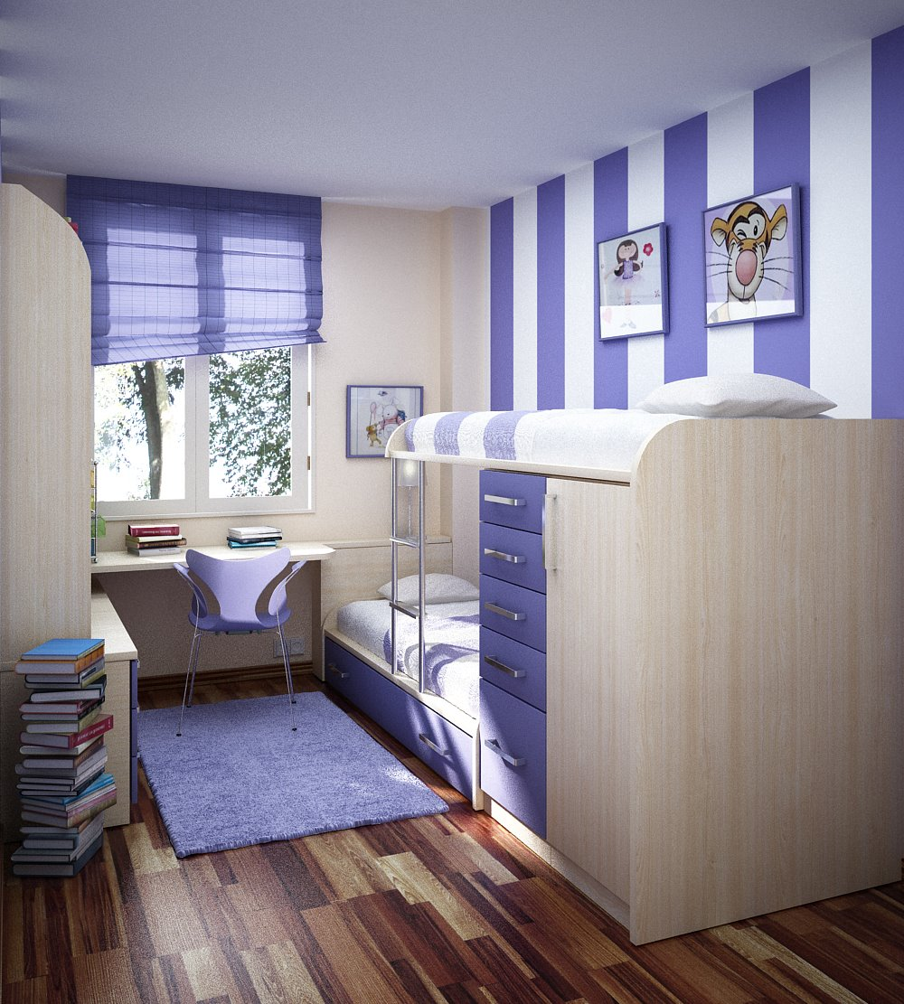 desain interior kamar tidur minimalis modern 232 bed