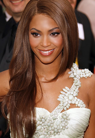beyonce long brown hair