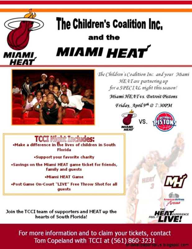 April 2010   Miami Heat tickets in support of The Childrens