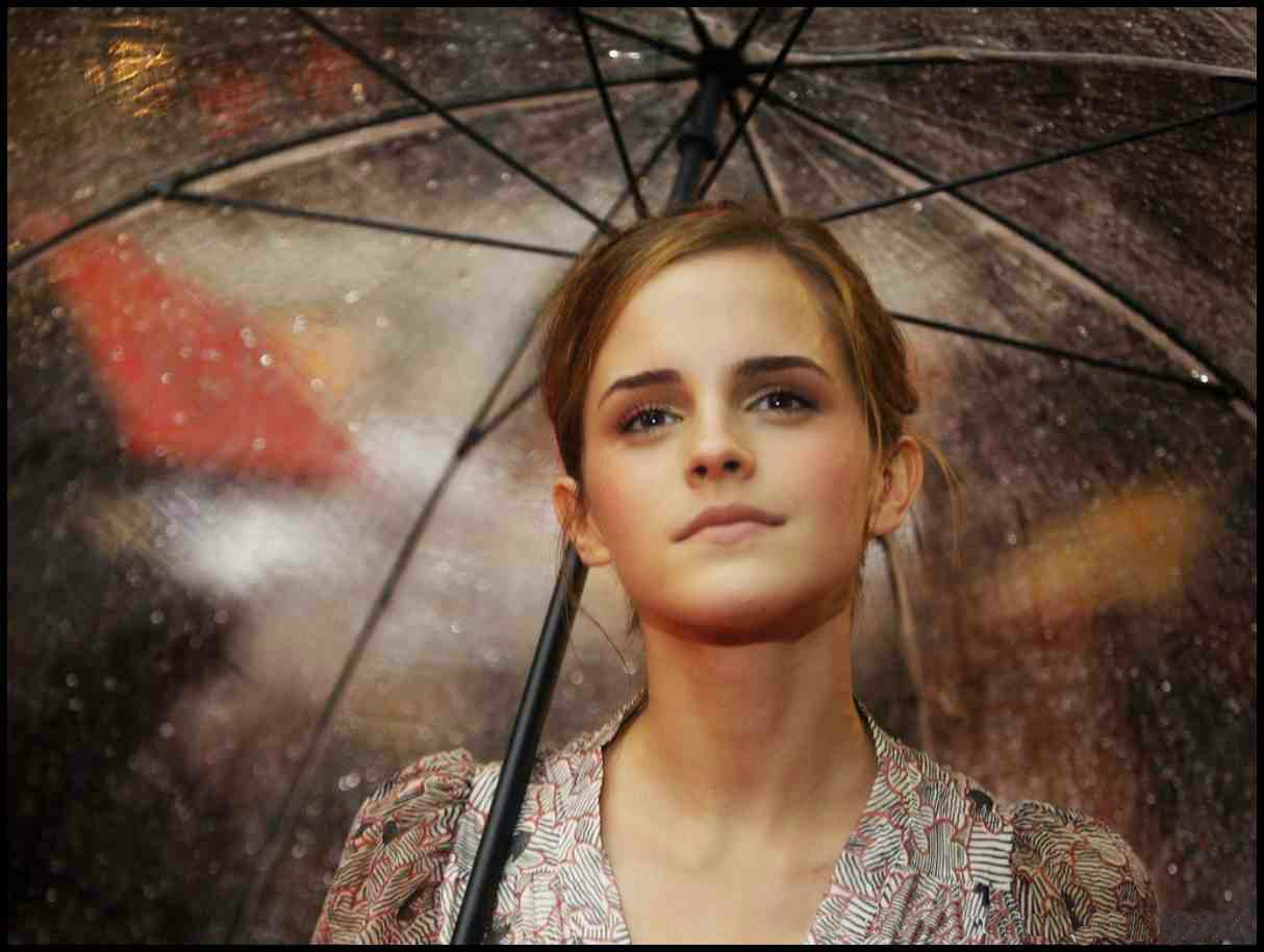 Girl in rain wallpapers