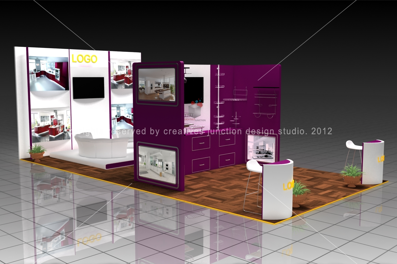 Creatives junction design studio home decor exhibition stand for Aita studio home decoration