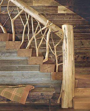escaleras rsticas para casas de campo