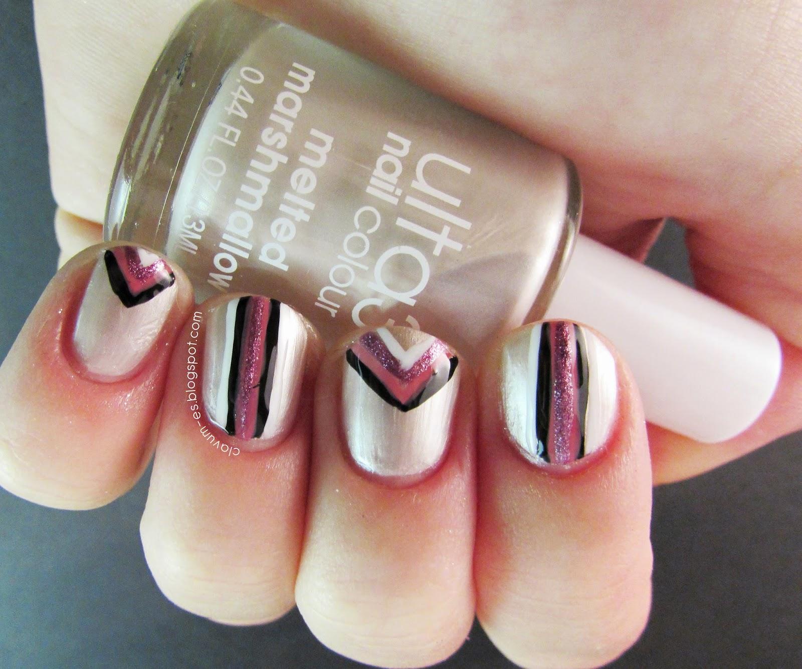 Edgy Geometric Nail Art