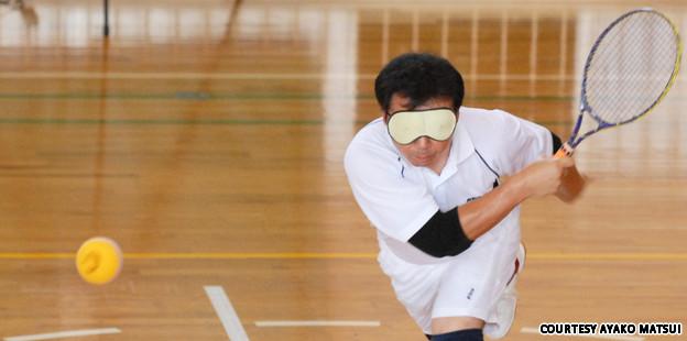 Permainan tenis untuk orang buta yang berasal dari Jepun