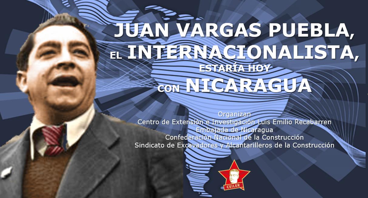 JUAN VARGAS PUEBLA SOLIDARIZÓ CON EL PUEBLO DE NICARAGUA