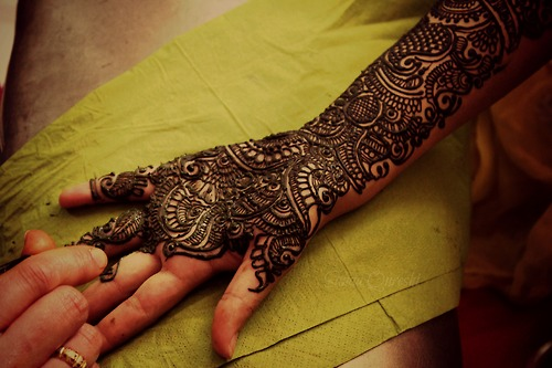 Full Arm Mehndi Designs : Tattoo mehndi full till arm