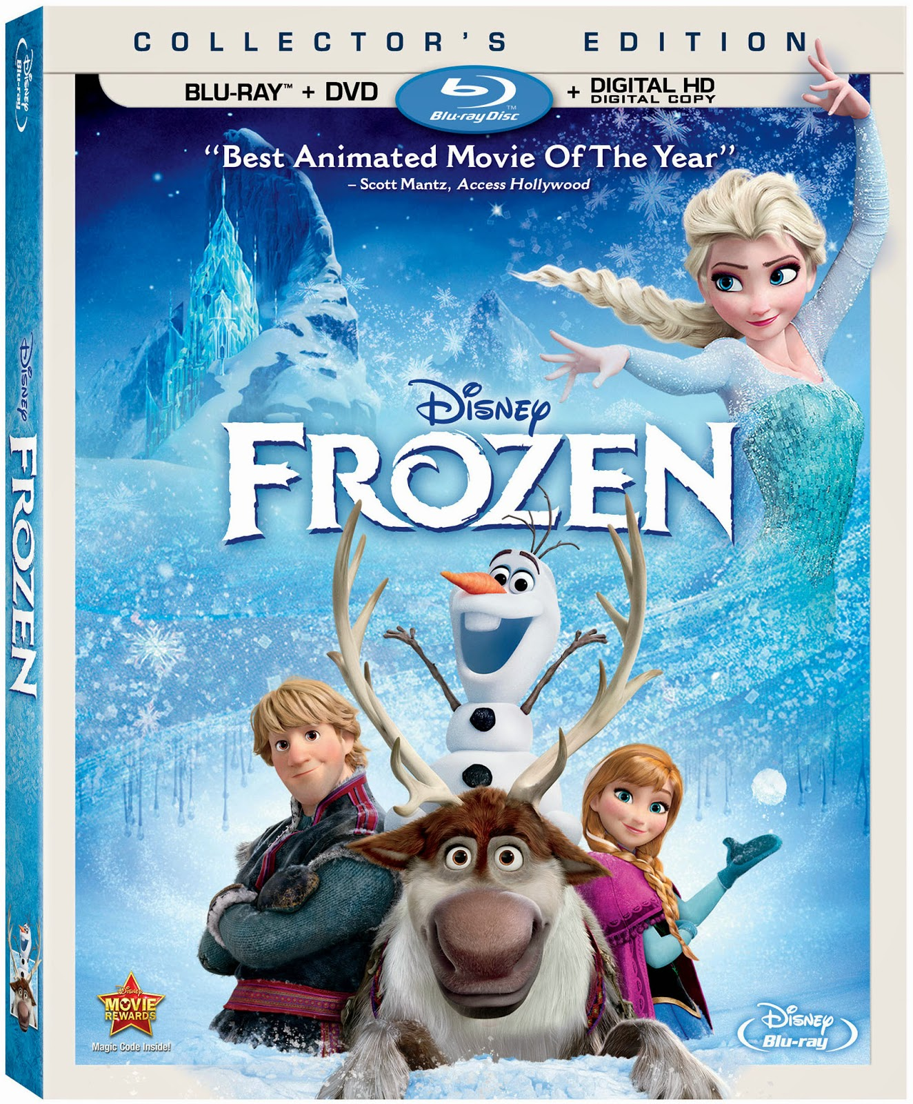 Disney\'s Frozen Now Out On Blu-ray™ Combo Pack & DVD | Two of a kind ...