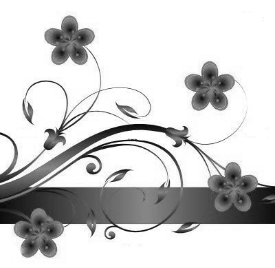 Beau motif fleur pour tableau