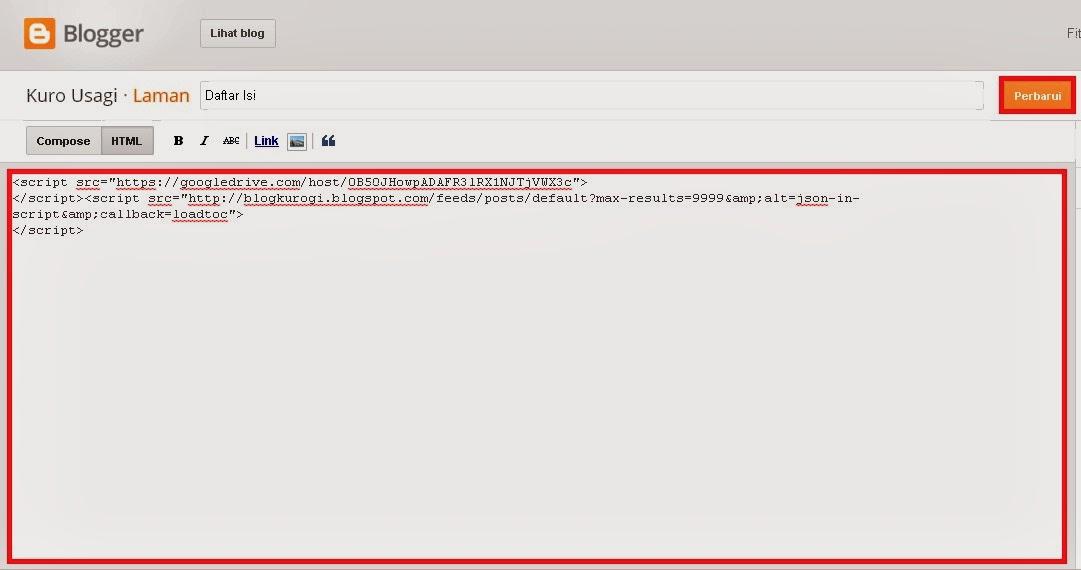 Cara Membuat Daftar Isi Otomatis Di Blog