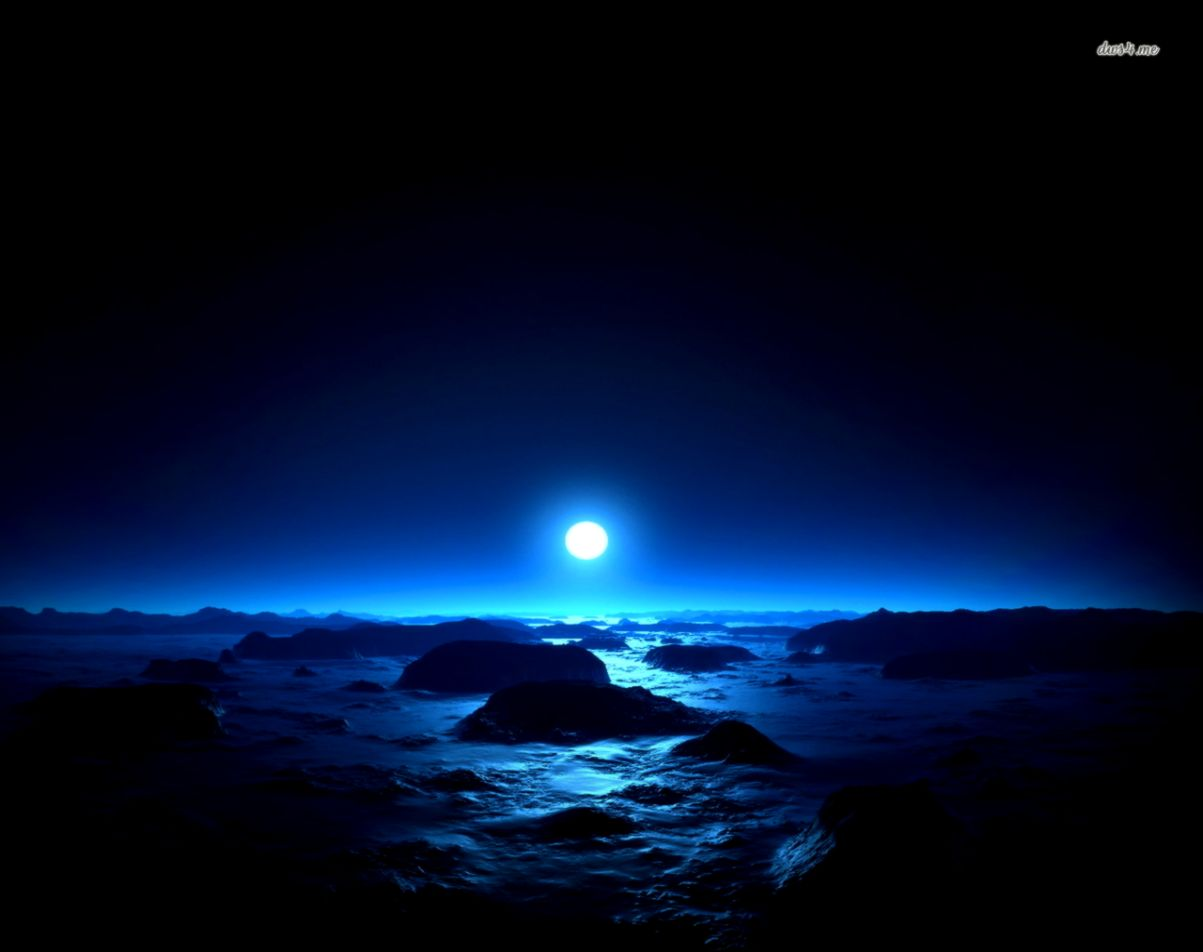 blue night sky background - photo #29